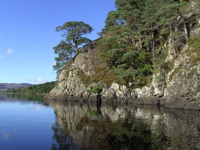 Cliffs on northern Shore Loch Maree