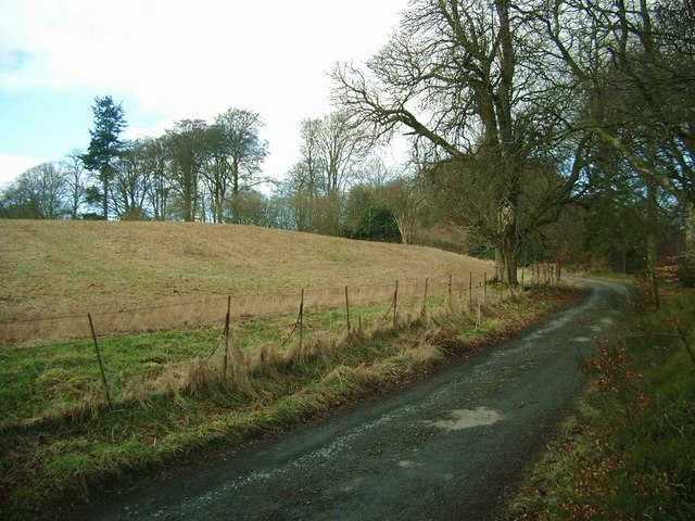 The track to Braco Castle Farm