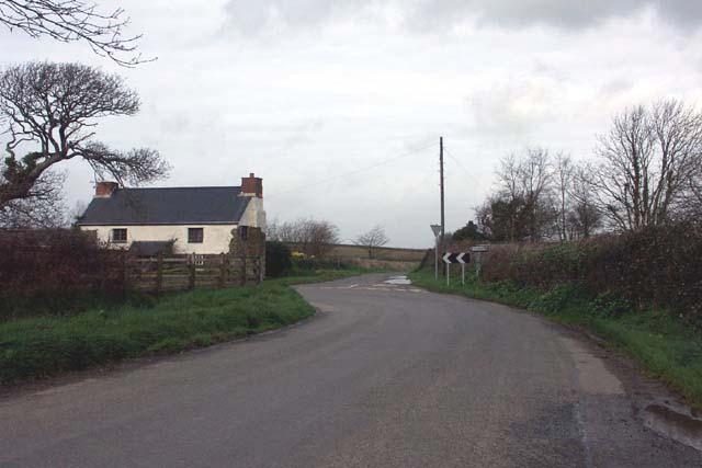 Road junction near Tregerrick