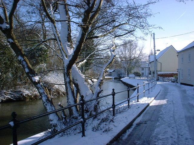 Swan Street in Snow