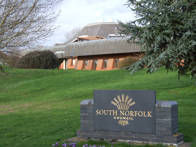 South Norfolk Council Offices and Sign