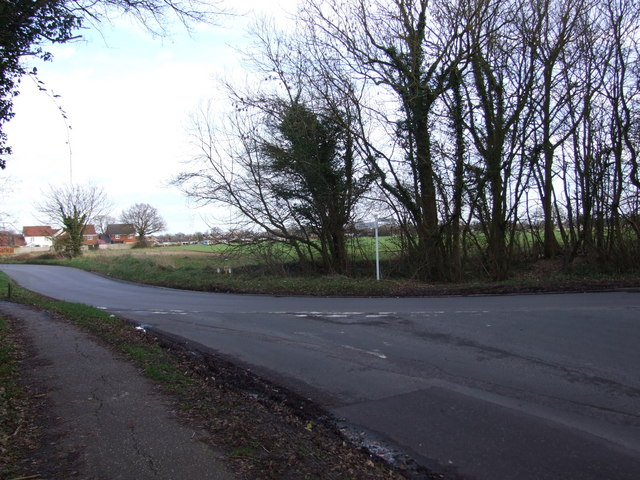 Junction of Chequers Road and Wacton Road, Long Stratton