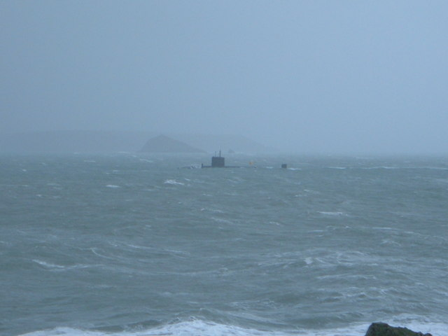 Submarine trundles in on a lumpy day