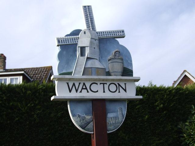 Wacton Village Sign