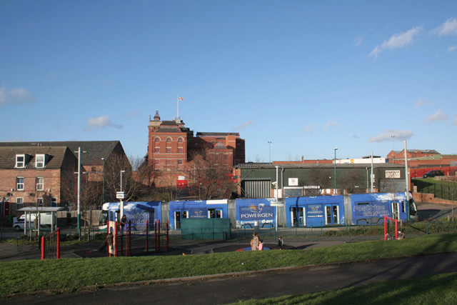 Shipstone Street Playground and Tram stop.