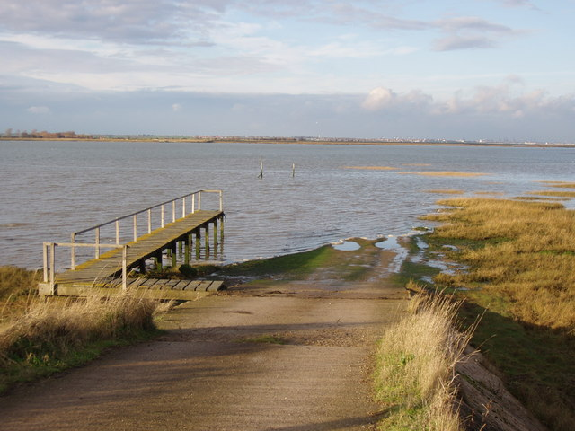 "The  ""road"" across the Wade to Horsey Island"