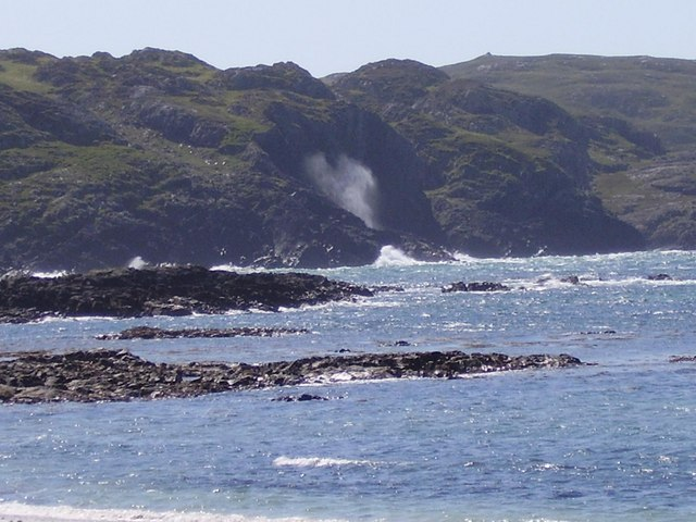 Spouting cave from Camus cul an Taibh