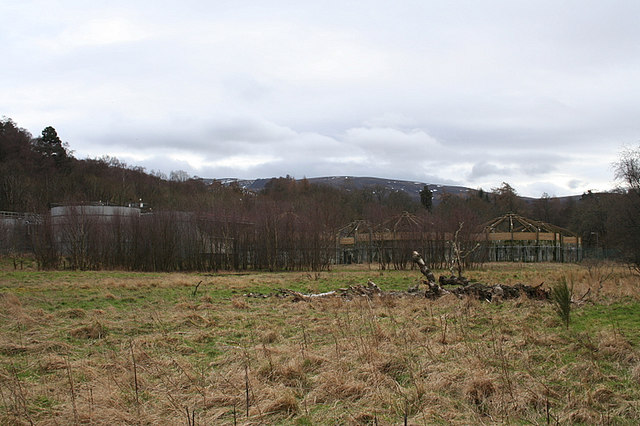 Effluent plant on the banks of the Spey.