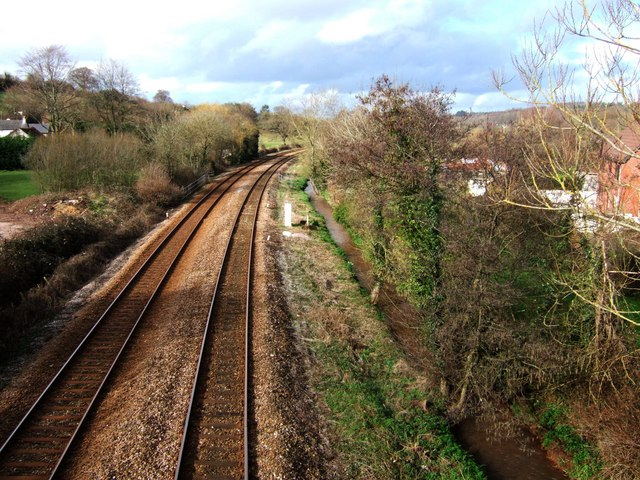 Railway line at Kingskerswell