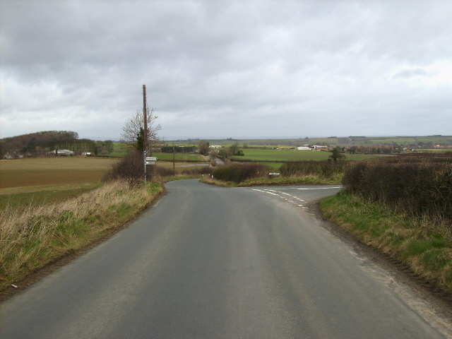 Road junction in the Yorkshire Wolds