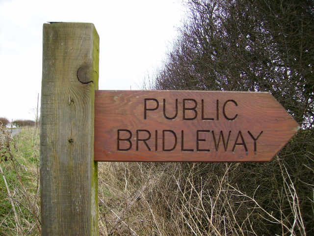 Sign at Bridleway which leads to Scrayingham