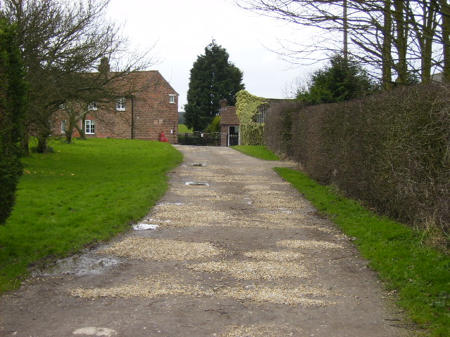 Driveway of Pasture Farm near Sand Hutton