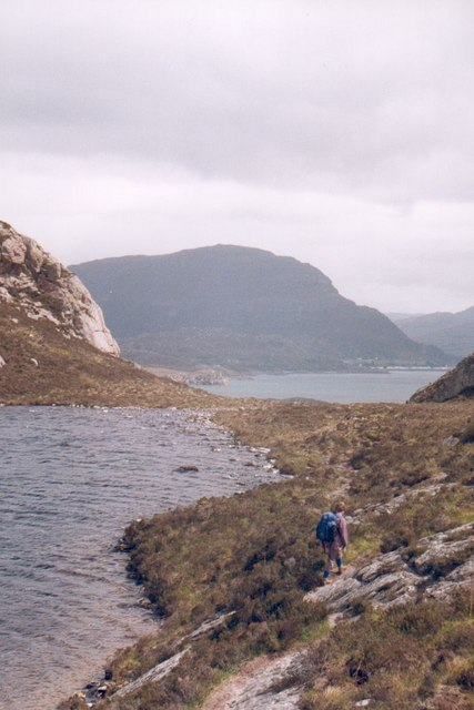 Walking the coast path at Lochan Dubh