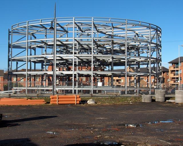 The 'Pork Pie' Building Under Construction
