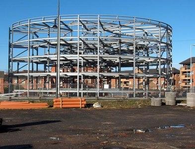 SJ8396 : The 'Pork Pie' Building Under Construction by Marcus Hargis