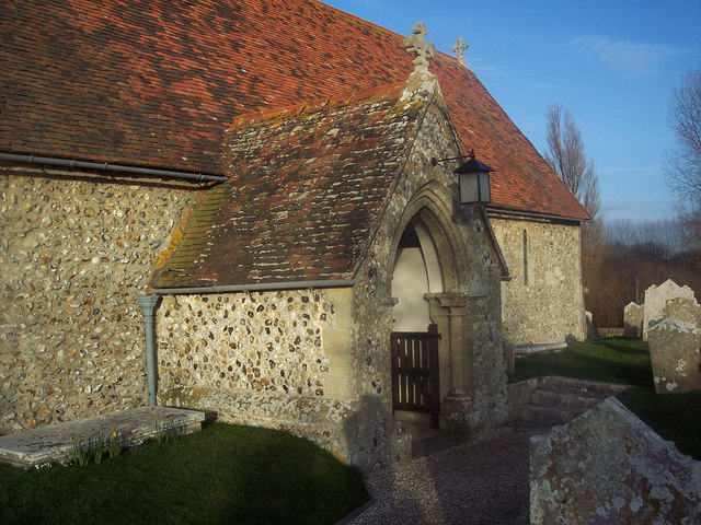 The 13th century porch of St Nicholas Church