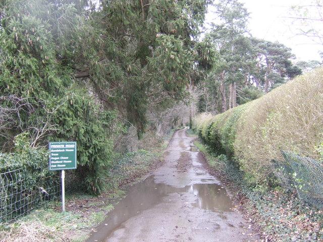 Private road, public bridleway