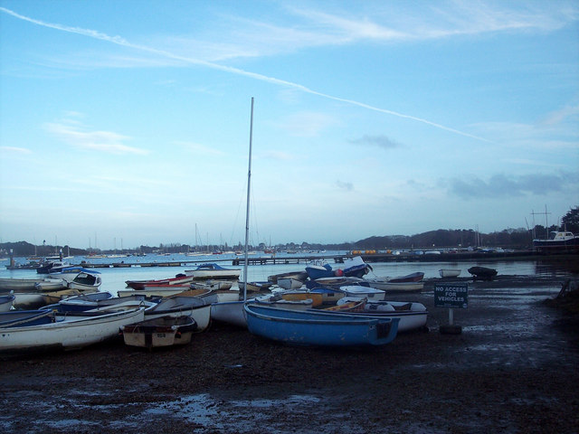 Boats moored at West Itchenor
