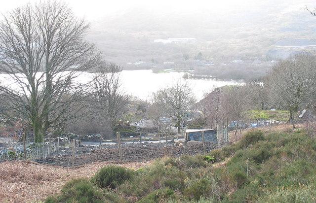 An alternative life-style farm on the Chwarel y Faenol site