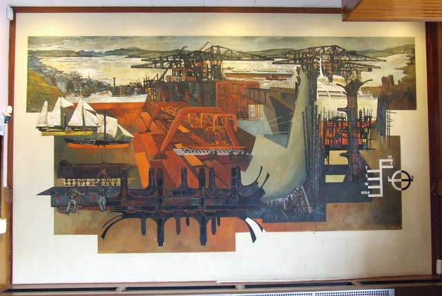 Mural in Port Glasgow Town Hall foyer
