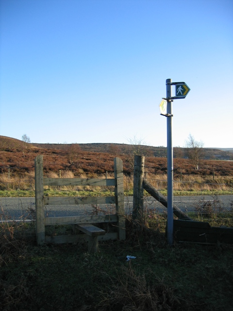 Stile on the A5104