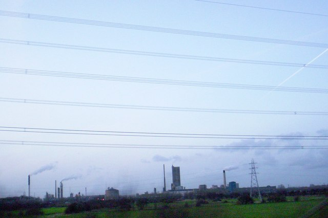 Wires over Helsby Marsh