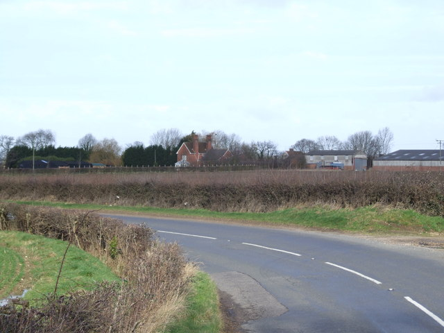 Looking from B1134 across to Orchard Farm