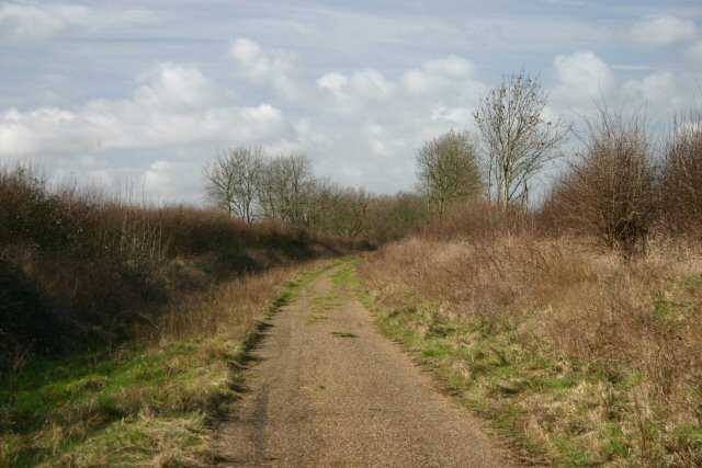 Disused railway south of Comberton