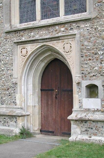 St James, Thorley, Herts - Doorway
