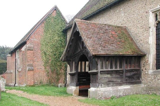 St Dunstan, Hunsdon, Herts - Porch