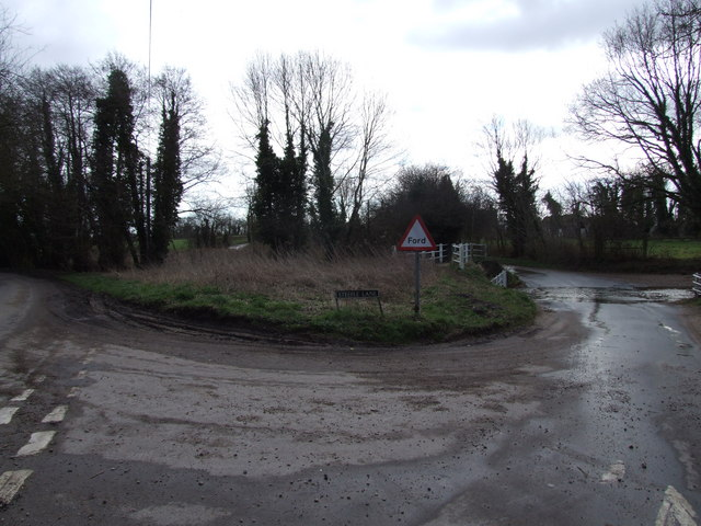 Steeple Lane Junction and Ford, Aslacton