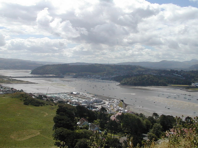 The River Conwy from Deganwy Castle hill