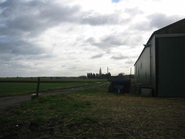 Fields and farm buildings near Warboys