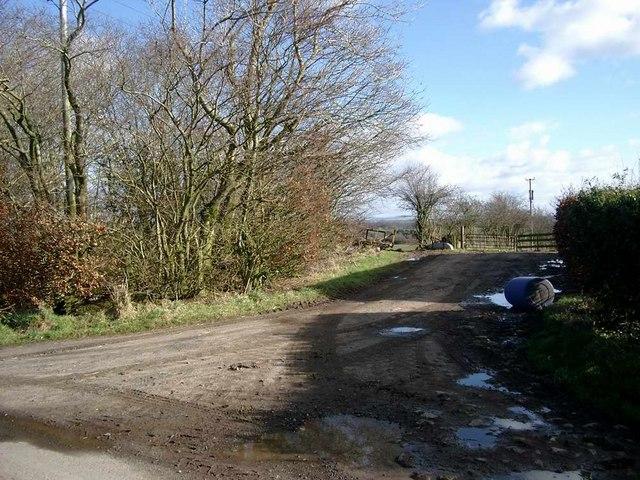 Barrhill farm entrance