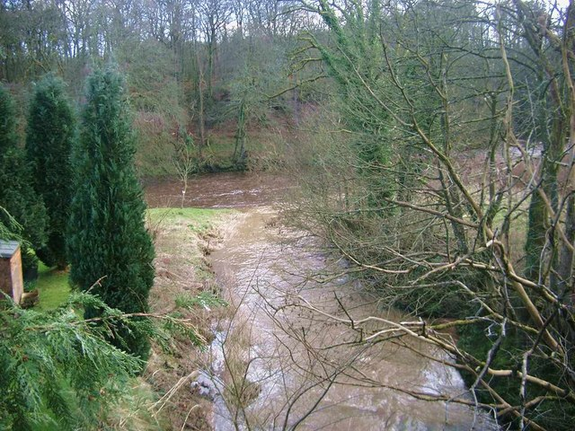 The Water of Fail meets the River Ayr