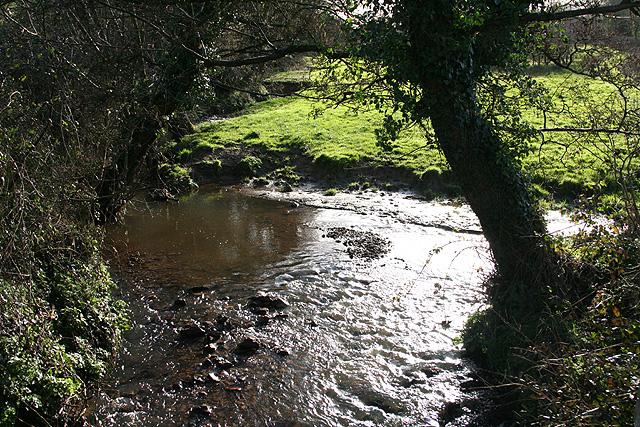 Colyton: stream near Bolshayne