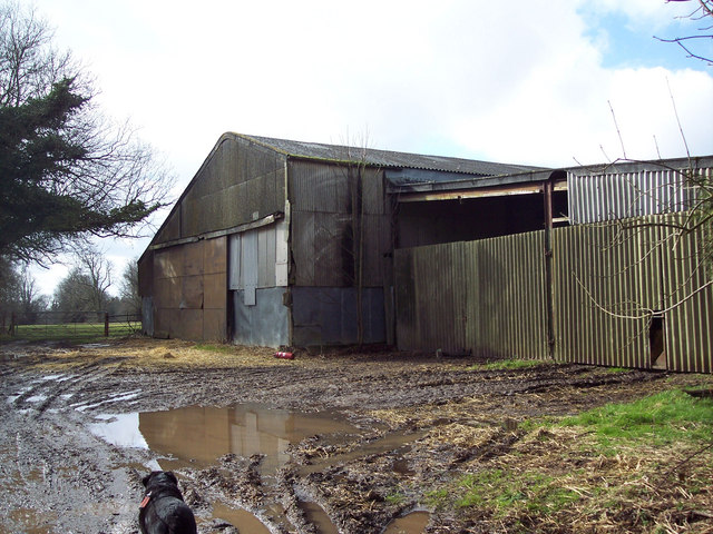 Farm buildings in Grovely Wood