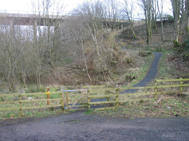 River Ayr Way passes under the A76