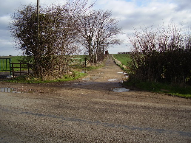 Farm track from Little Casterton Road