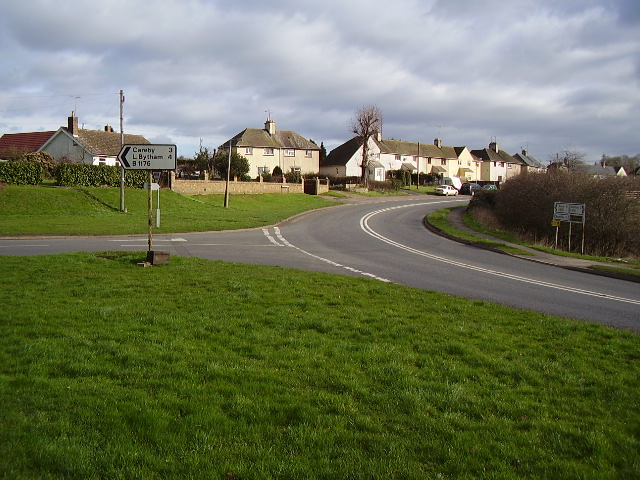 Houses on A6121 at Ryhall