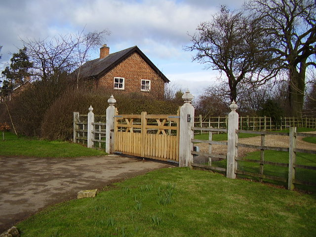 Ryhall Heath Farm entrance gates