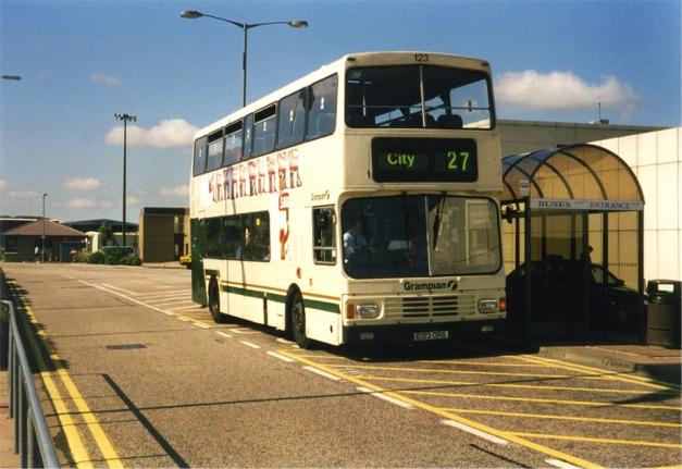 Bus stop, Aberdeen Airport