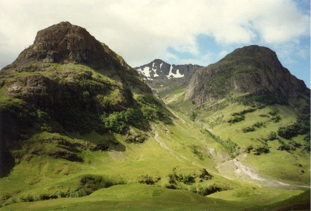 The Three Sisters of Glen Coe, the classic view