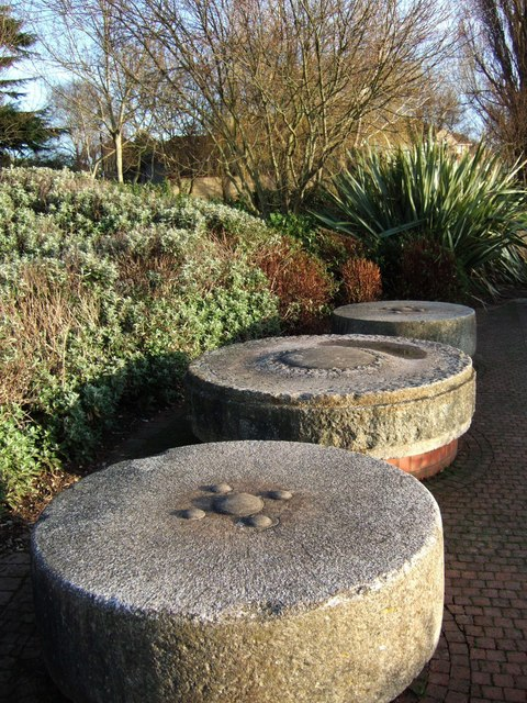 Millstones near Trews Weir