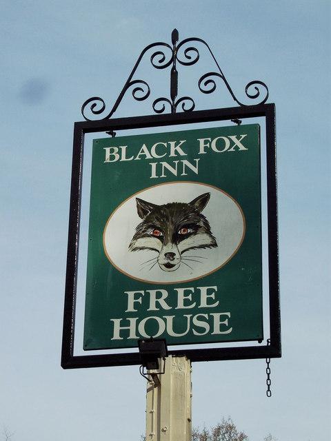 Sign for the Fox Inn