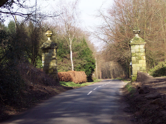 Ornamental gate posts near Milland Place