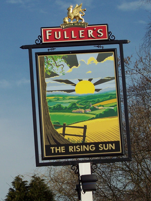 The sign for the Rising Sun, Milland