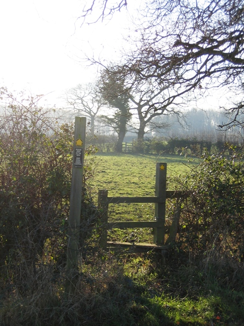 Stiles and Footpath near Crewe by Farndon