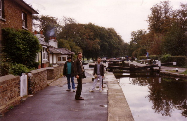 Cowley Lock on the Grand Union Canal, 1990