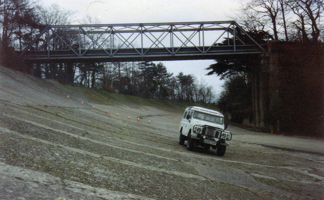 Banked section and Members' Bridge, Brooklands